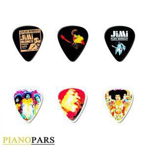 پک 6 تایی پیک گیتار دانلوپ Jim Hendrix